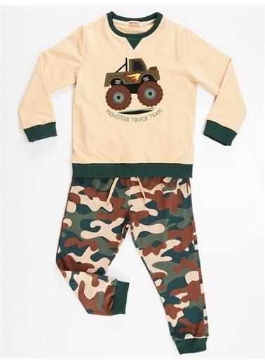 Denokids Truck Team Erkek Çocuk Eşofman Takım Renkli